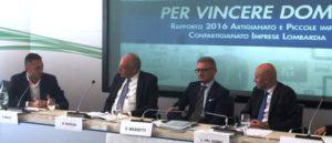 Il tavolo dei relatori, al centro il Presidente di Confartigianato Lombardia Eugenio Massetti
