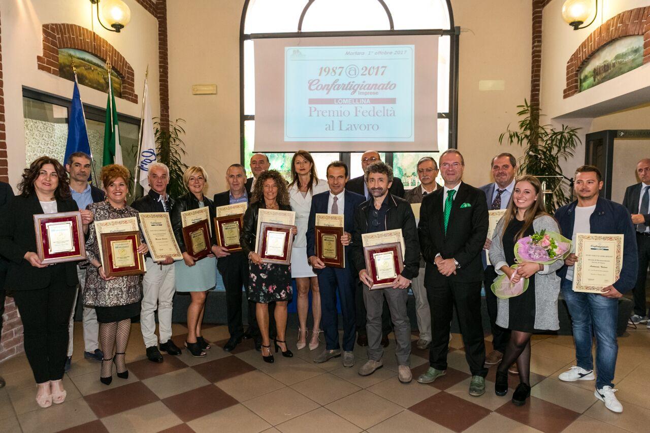 Premiati I Fedeli Al Lavoro 2017 Confartigianato Lomellina