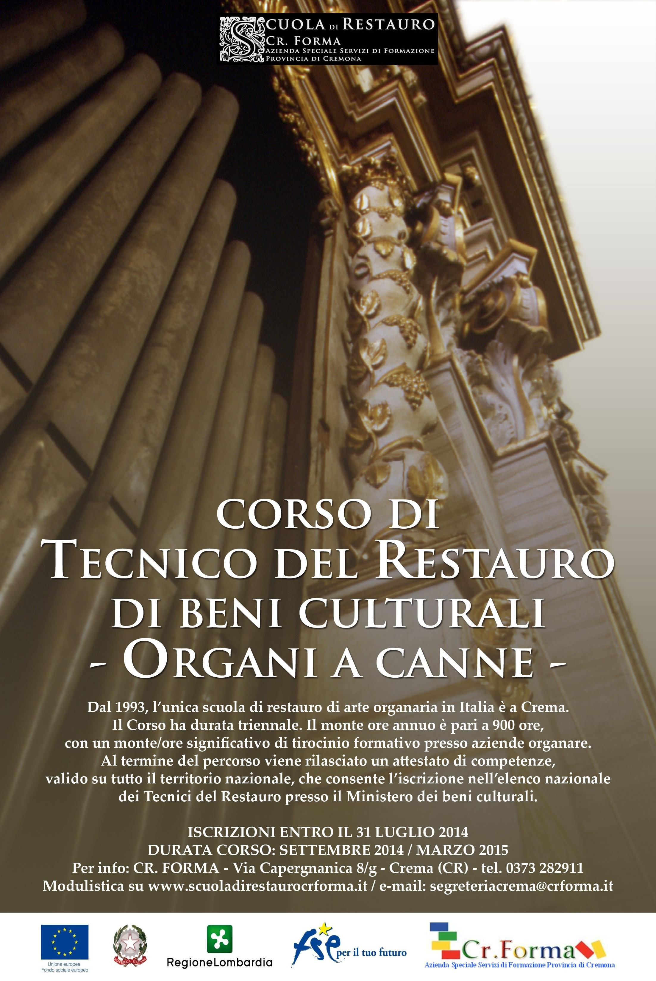 Corso Di Tecnico Del Restauro Di Organi A Canne Confartigianato Lomellina